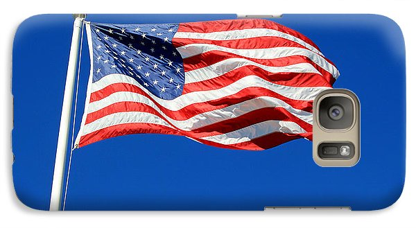 Galaxy Case featuring the photograph American Flag by Barbara West
