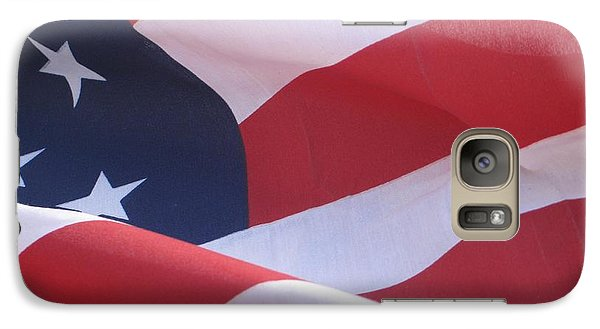 Galaxy Case featuring the photograph American Flag   by Chrisann Ellis