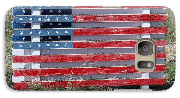 Galaxy Case featuring the photograph American Flag Country Style by Sylvia Thornton