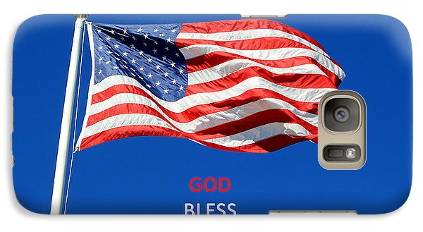 Galaxy Case featuring the photograph American Flag - God Bless America by Barbara West