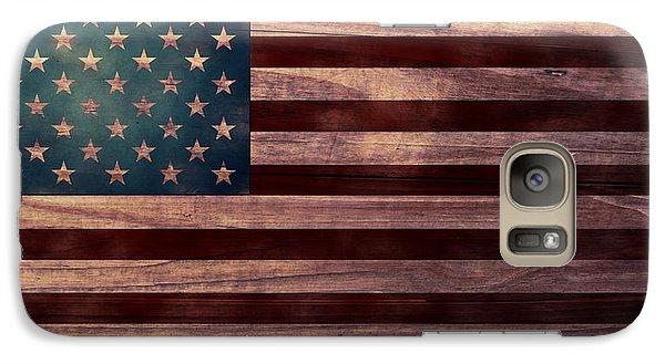 Folk Art Galaxy S7 Case - American Flag I by April Moen