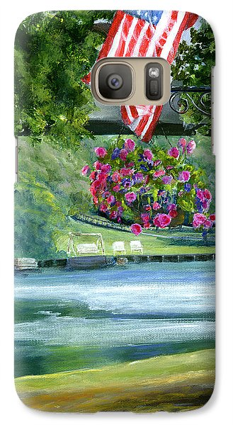Galaxy Case featuring the painting American Flag In Natchitoches Louisiana by Lenora  De Lude