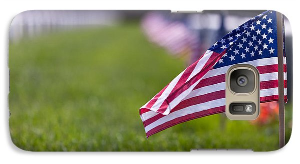 Galaxy Case featuring the photograph American Flag by Jerry Gammon