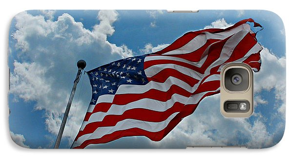 Galaxy Case featuring the photograph American Flag by Lila Fisher-Wenzel