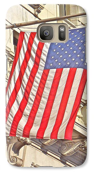 Galaxy Case featuring the photograph American Flag N.y.c 1 by Joan Reese