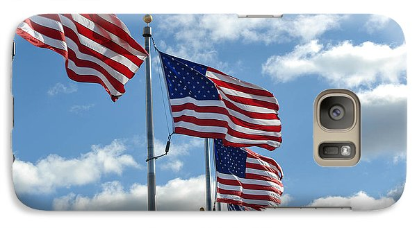 American Flags In The Wind Galaxy Case by Brandon Bourdages