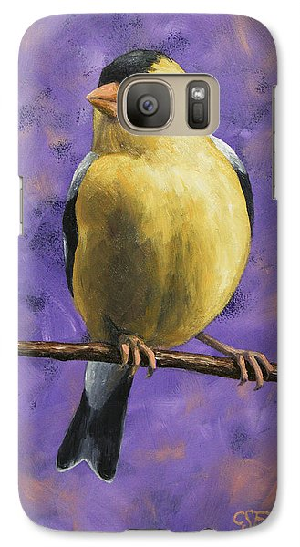 Finch Galaxy S7 Case - American Goldfinch by Crista Forest
