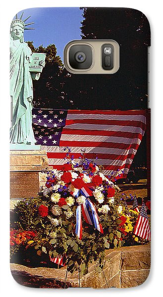 Galaxy Case featuring the painting American Iconology by Margaret Harmon