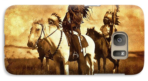 Galaxy Case featuring the mixed media American Indians by Allen Beilschmidt