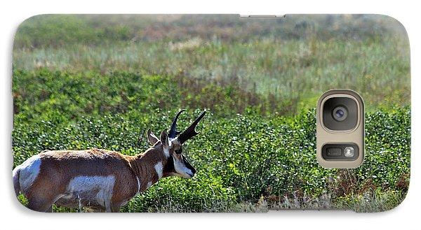 Galaxy Case featuring the photograph American Pronghorn Buck by Karon Melillo DeVega