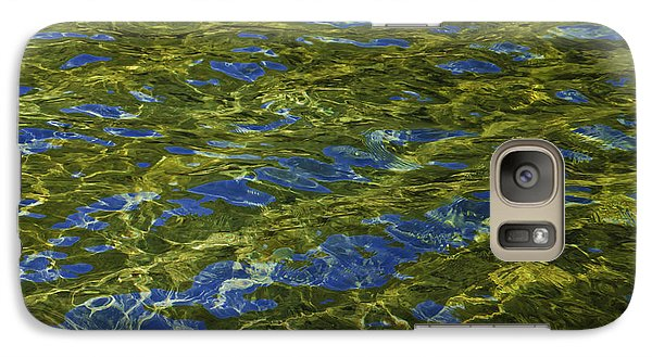 Galaxy Case featuring the photograph American River Abstract 2 by Sherri Meyer