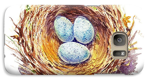 American Robin Nest Galaxy S7 Case by Irina Sztukowski