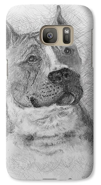 Galaxy Case featuring the drawing American Staffordshire Terrier by Jim Hubbard