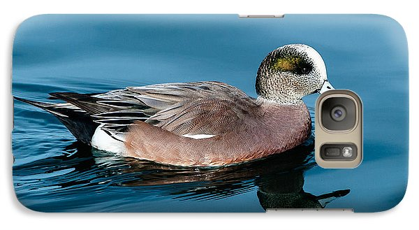 Galaxy Case featuring the photograph American Wigeon by Stephen  Johnson