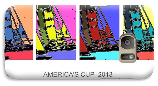 Galaxy Case featuring the drawing America's Cup Poster 3 by Andrew Drozdowicz