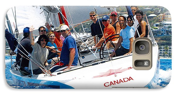 Galaxy Case featuring the photograph Americas Cup Racing At St. Martin by Tom Doud