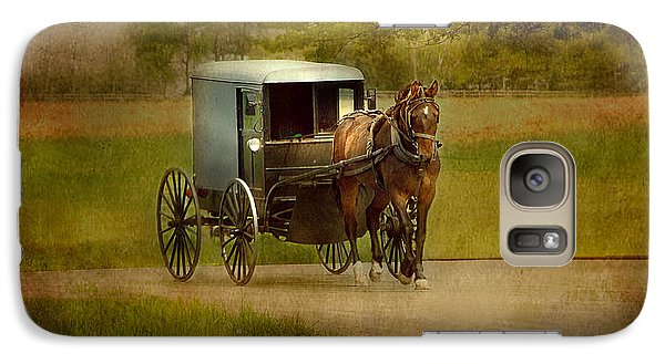 Galaxy Case featuring the photograph Amish Buggy Ride by Dyle   Warren