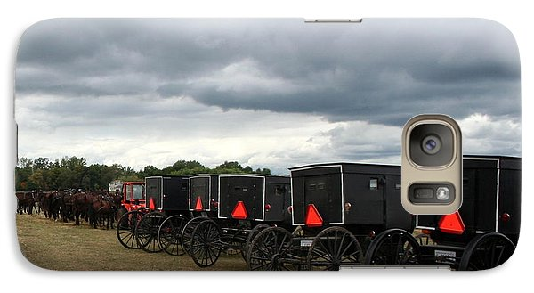 Galaxy Case featuring the photograph Amish Car Park by Debra Kaye McKrill