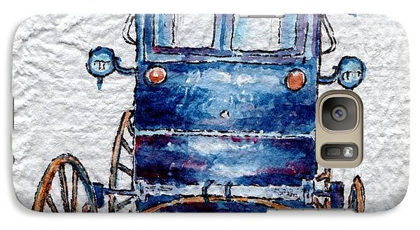 Galaxy Case featuring the painting Amish Cart by Mary Haley-Rocks