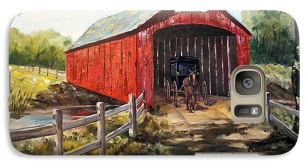 Galaxy Case featuring the painting Amish Country by Lee Piper
