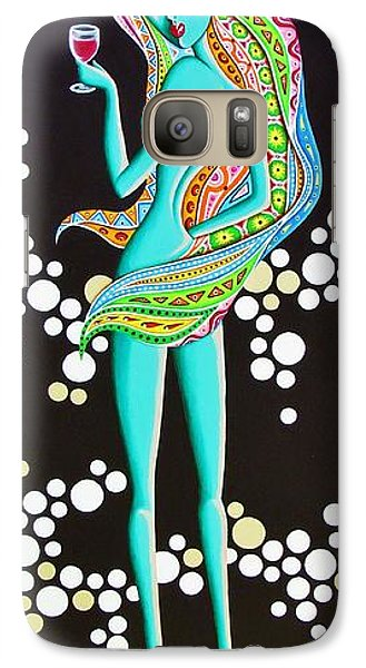 Galaxy Case featuring the painting Amitty Groovy Chick Series by Joseph Sonday