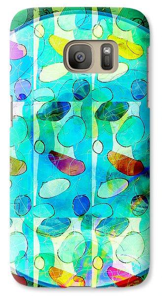 Galaxy Case featuring the digital art Amoeba Plate by Gabrielle Schertz