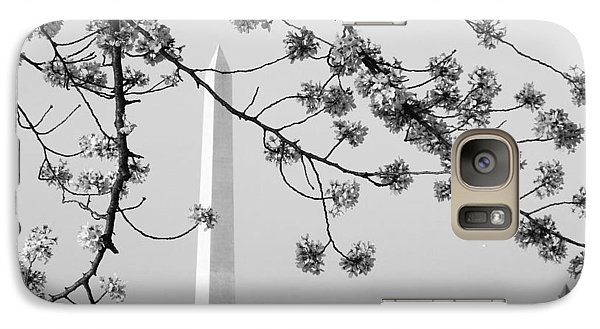 Galaxy Case featuring the photograph Amongst The Cherry Blossoms by Emmy Marie Vickers