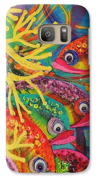 Galaxy Case featuring the painting Amongst The Coral by Lyn Olsen