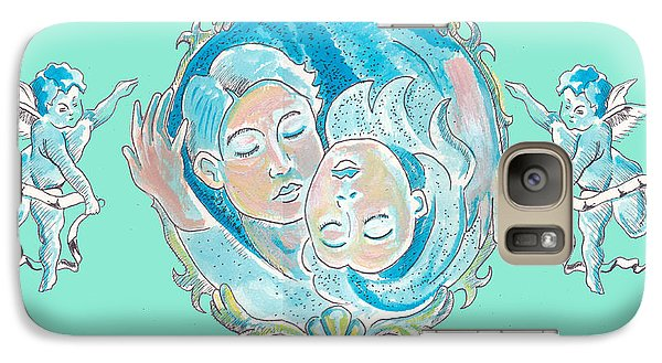 Galaxy Case featuring the painting Amor In Aqua by John Keaton