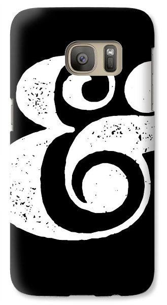 Ampersand Poster Black Galaxy S7 Case by Naxart Studio