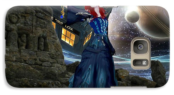 Galaxy Case featuring the painting Amy And The Tardis by Digital Art Cafe