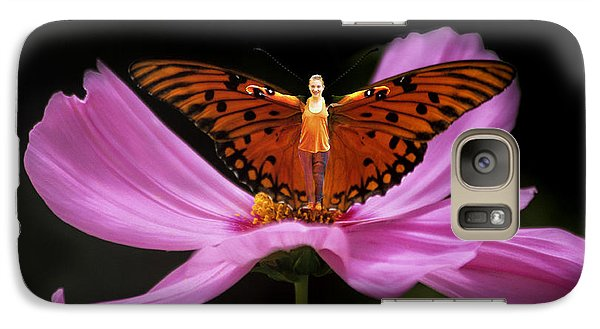 Galaxy Case featuring the photograph Amy The Butterfly by Susan Rovira