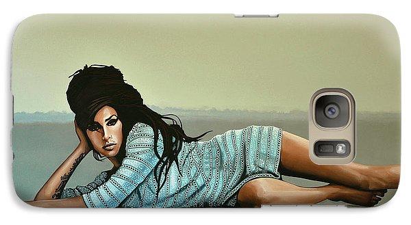 Amy Winehouse 2 Galaxy Case by Paul Meijering