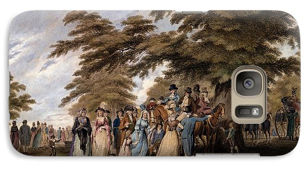 Hyde Park Galaxy S7 Case - An Airing In Hyde Park, 1796 by Edward Days
