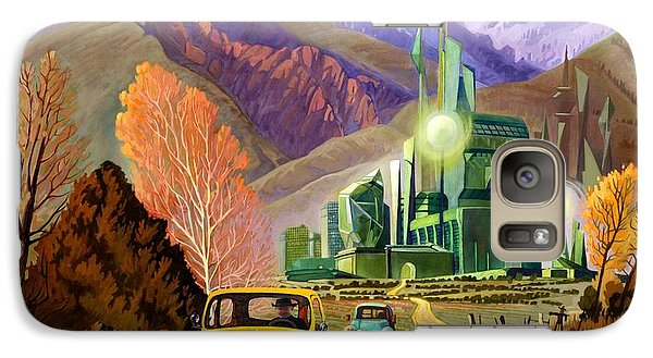 Galaxy Case featuring the painting Trucks In Oz by Art James West