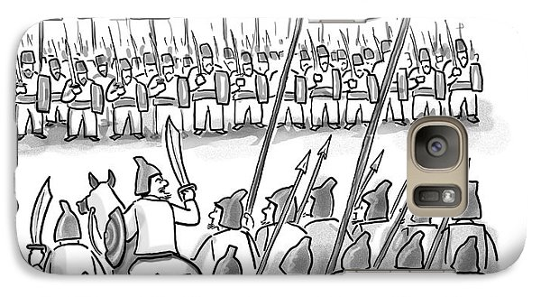 Religion Galaxy S7 Case - An Army Lines Up For Battle by Paul Noth
