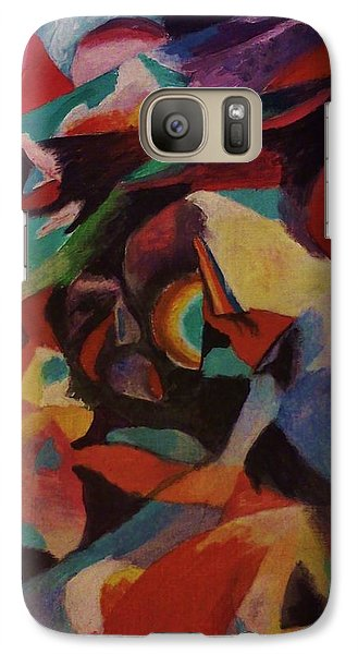 Galaxy Case featuring the painting An Artist's Block by Christy Saunders Church