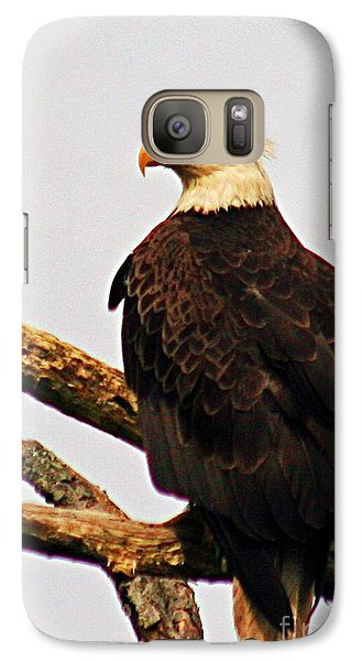 Galaxy Case featuring the photograph An Eagle's Perch by Polly Peacock