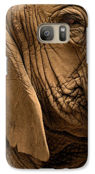 Galaxy Case featuring the photograph An Elephant's Eye by Nadalyn Larsen