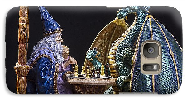 Dungeon Galaxy S7 Case - An Epic Chess Match by Bill Tiepelman