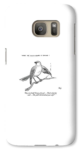 Mockingbird Galaxy S7 Case - An Incendiary Mockingbird Is Depicted by Carolita Johnson