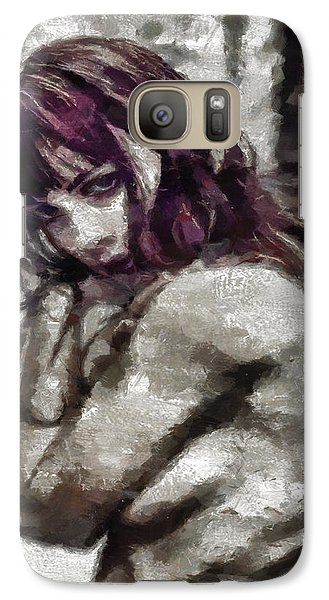 Galaxy Case featuring the painting An Insecure Heart by Joe Misrasi