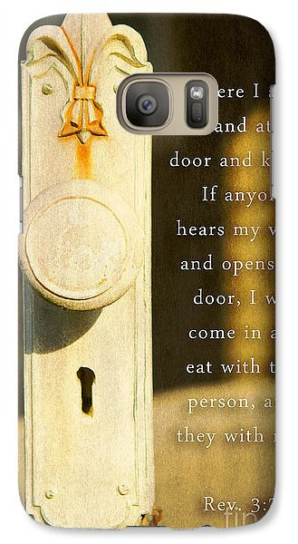 Galaxy Case featuring the photograph An Invitation  by MaryJane Armstrong