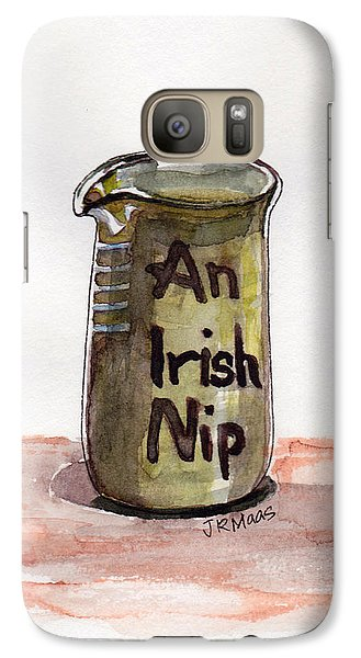 Galaxy Case featuring the painting An Irish Nip by Julie Maas
