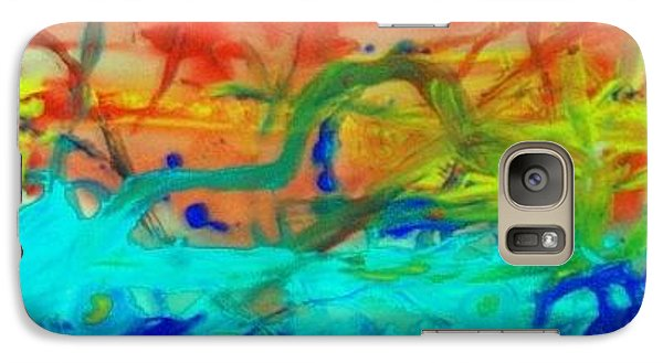 Galaxy Case featuring the painting An Ocean Ride Horizon by Jonathon Hansen