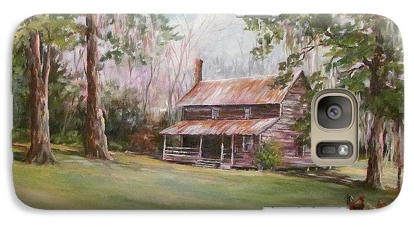 Galaxy Case featuring the painting An Old Home Place by Gloria Turner