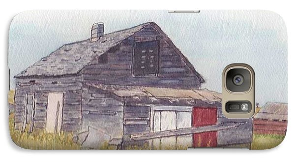 Galaxy Case featuring the painting An Old Memory Home In The Grand Prairies by Kelly Mills