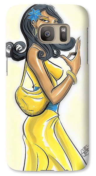 Galaxy Case featuring the drawing An S G Rho Yes Indeed by Tu-Kwon Thomas