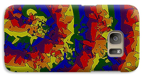 Galaxy Case featuring the digital art An Un-smooth Roundabout by Bartz Johnson