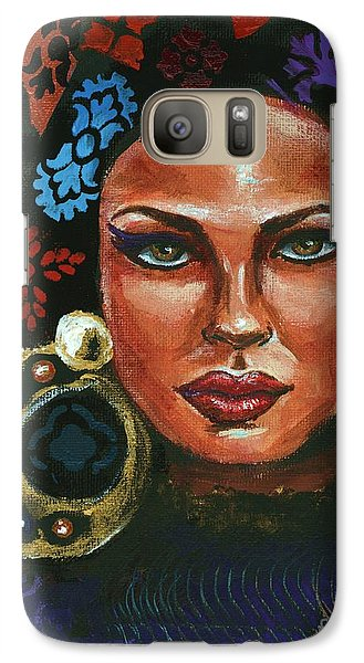 Galaxy Case featuring the painting An Unconventional Life by Alga Washington